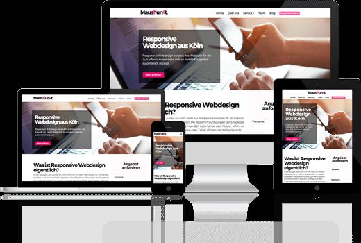 Responsive Webdesign auf verschiedenen Geräten