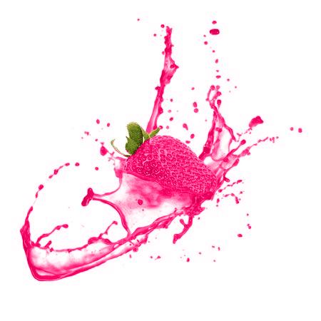 Eindrucksvolle Erdbeere mit Photoshop bearbeitet
