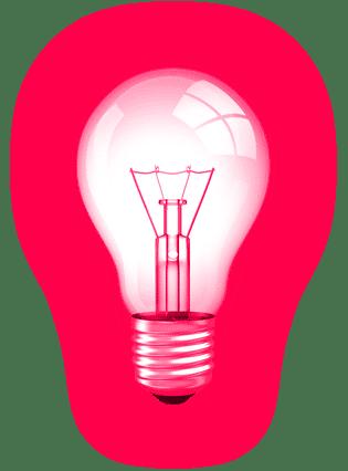 Glühbirne - Symbolisierend für Ideen