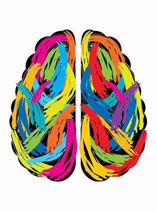 Buntes Gehirn - Wir denken mit bei der Erstellung Ihrer Webseite