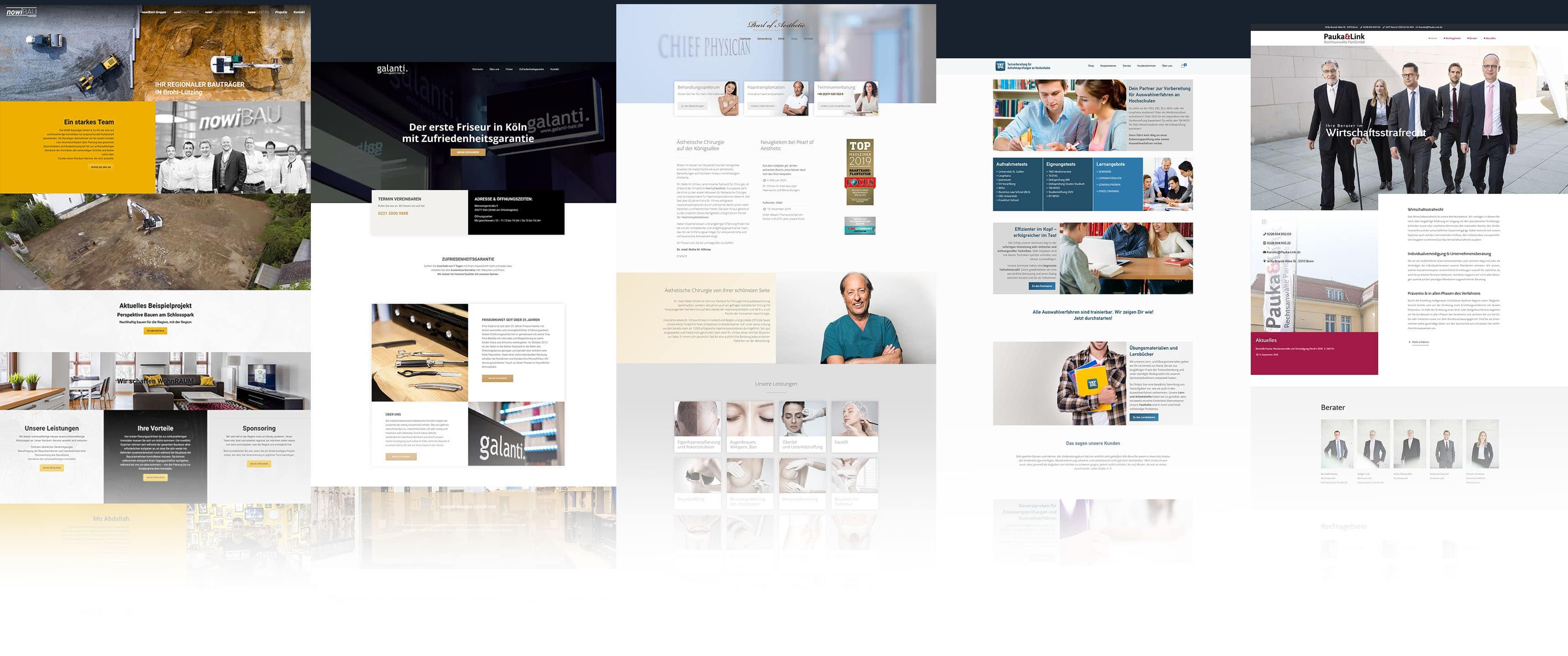 Webdesign Köln Referenzen von unseren Webdesignern aus Köln